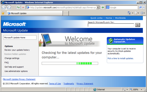 Windows Update not working under XP Pro SP3 - Super User