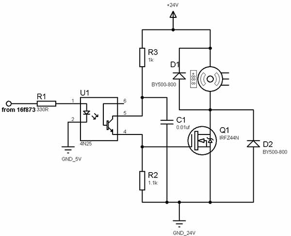 pwm dc motor controller using mosfets