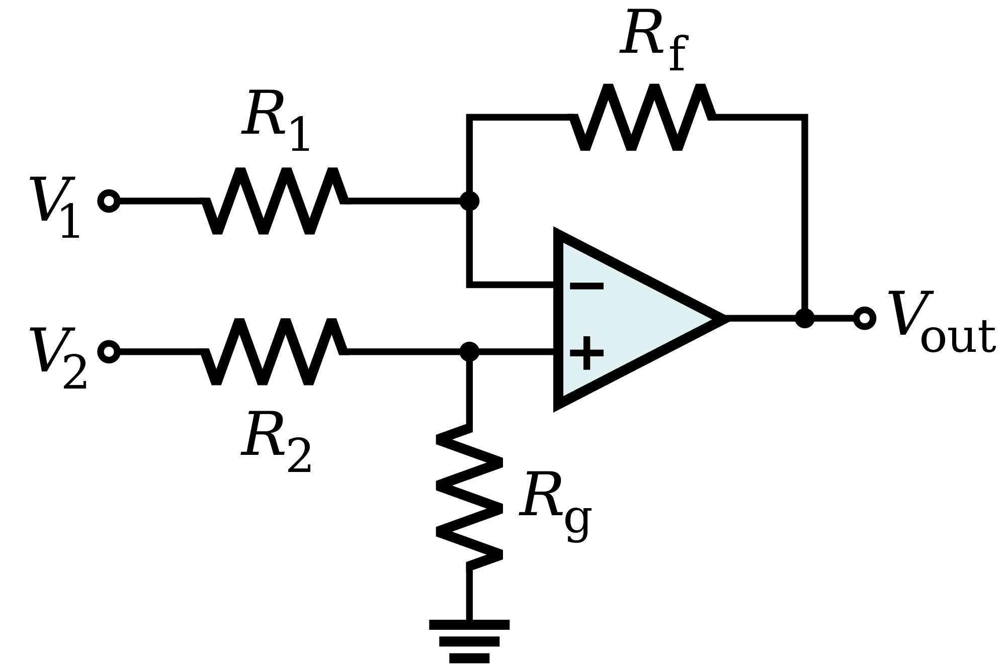 Differential Input To Single Ended Output With Fully
