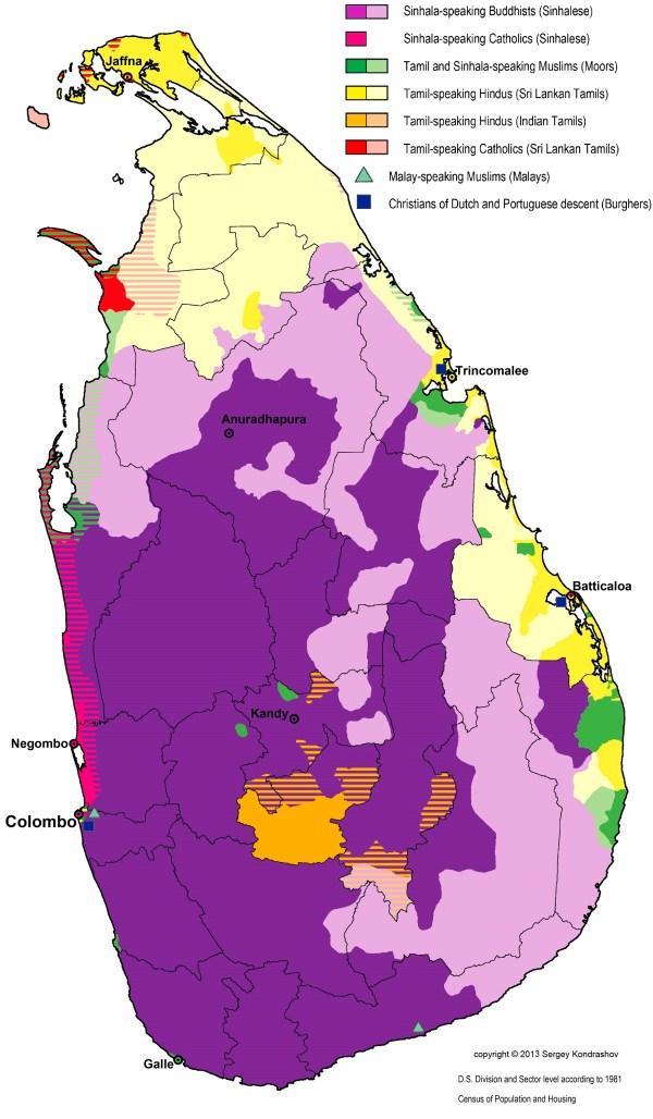 languages - Distinguishing Tamil speakers from Sinhalese ...