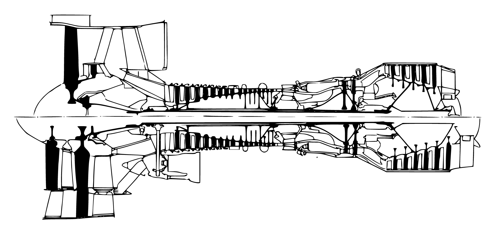 Turbo Jet Engine Schematic
