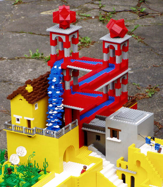building   Lego Escher structures   Bricks Lego Escher Staircase Lego Escher Waterfall