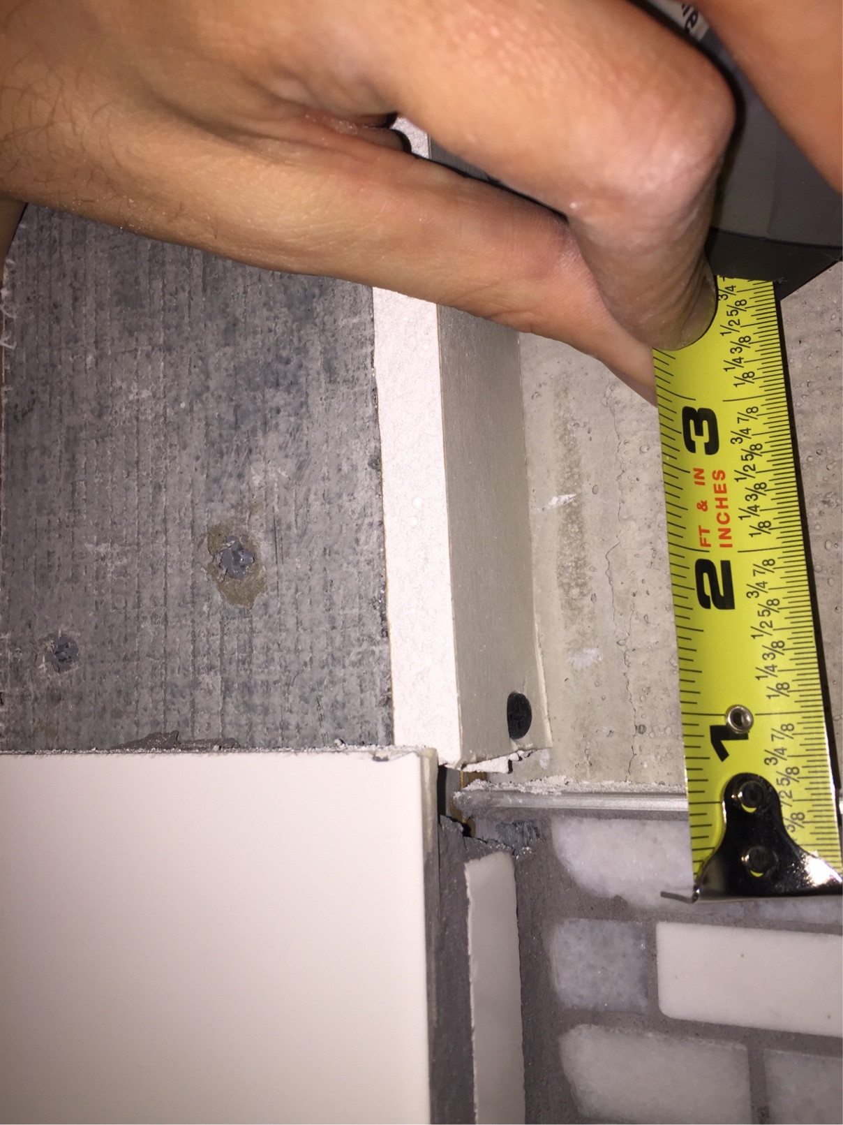 Tiling Shower Filling Gaps Between Tile And Drywall