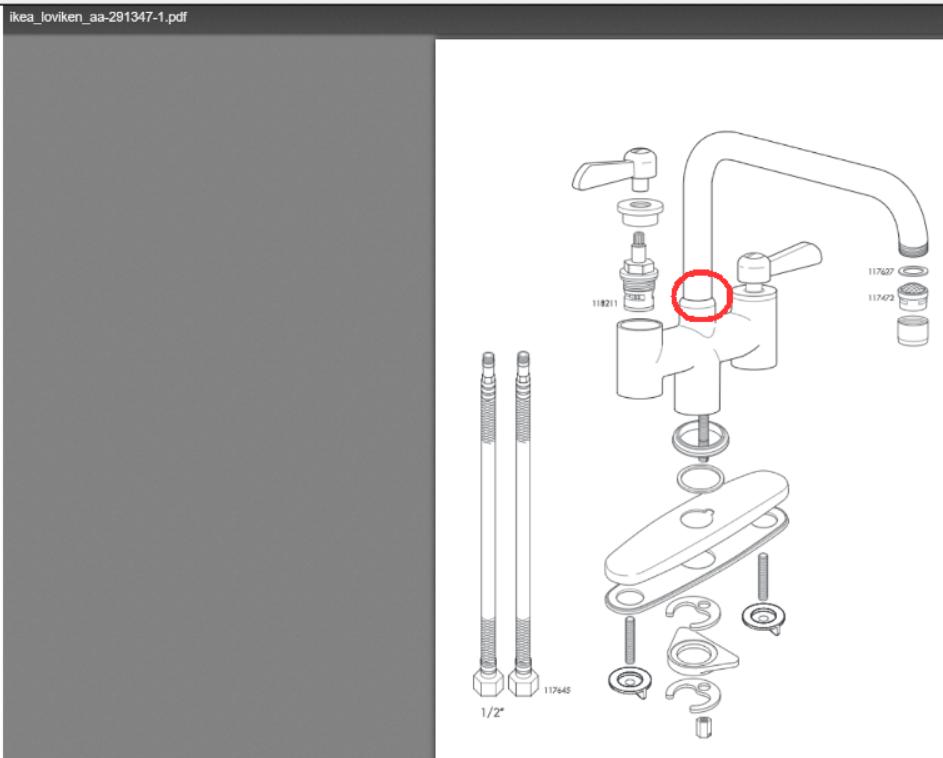 stem on my leaking ikea faucet