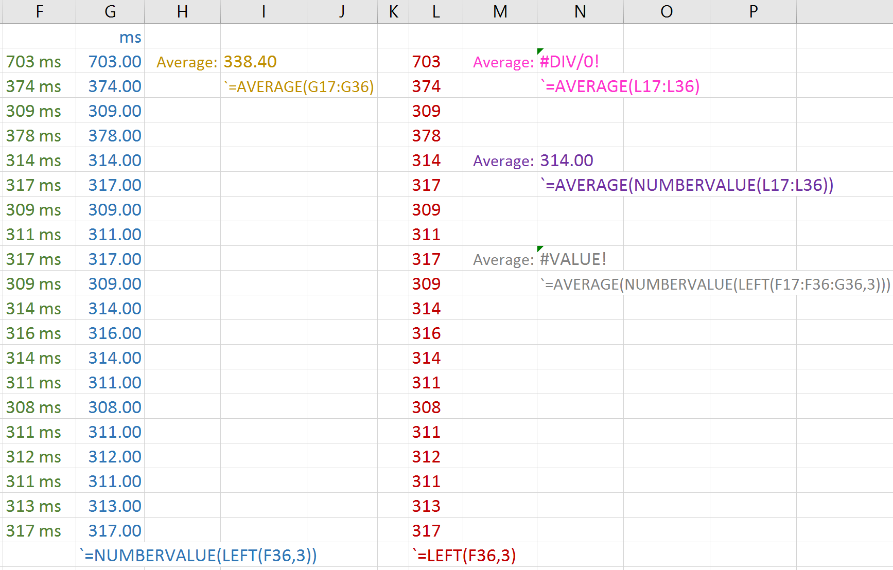 How Can I Use Functions Like Numbervalue Across A Whole Column Range In Excel