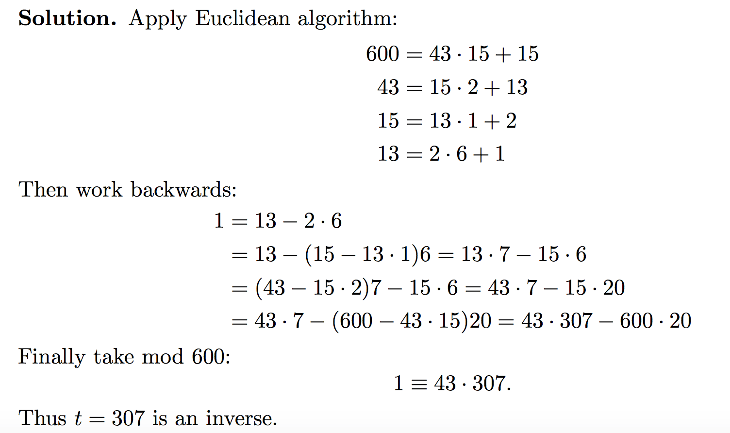 Euclidean Algorithm Example Number Theory 01 21