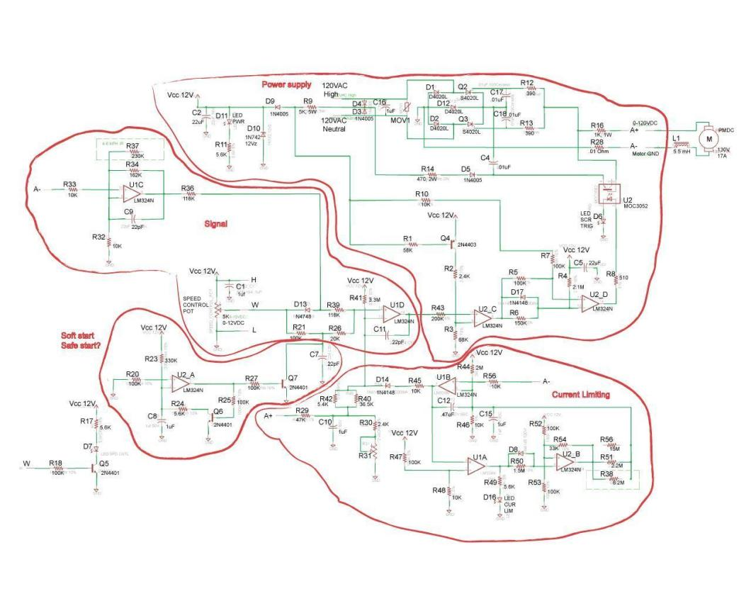 Mc60 Motor Controller Schematic Pwm Control Speed 12v By Tl494 Need Help With 90vdc Pm Sd Circuit