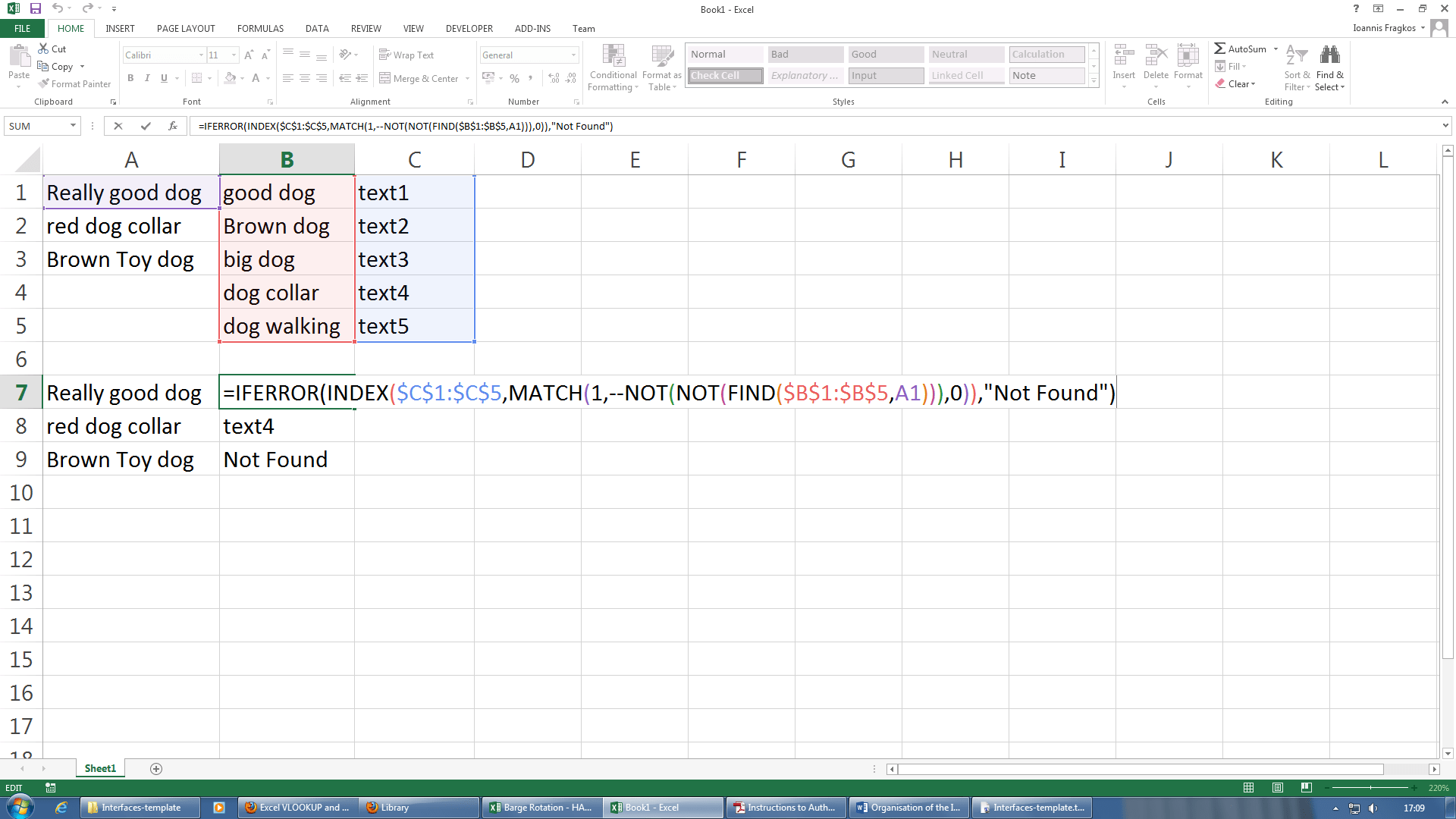Excel Vlookup And Search Combination