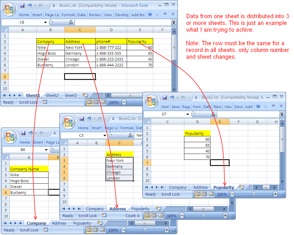 Copy Cells From One Sheet Into Multiple Sheets Excel