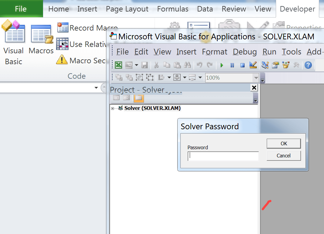 Excel Vba Code Password Protected Would Not Disappear