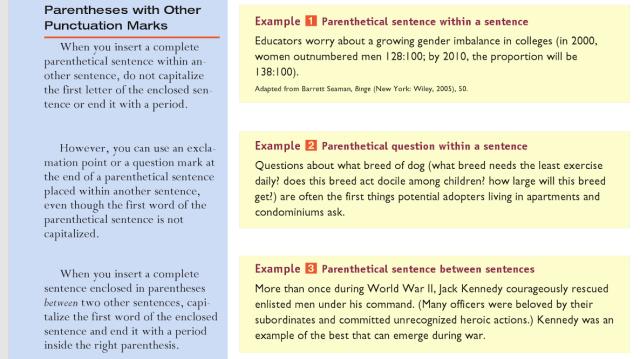 Parenthetical sentences - English Language & Usage Stack Exchange