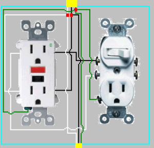 How to add GFCI to a box with one outlet controlled by a switch?