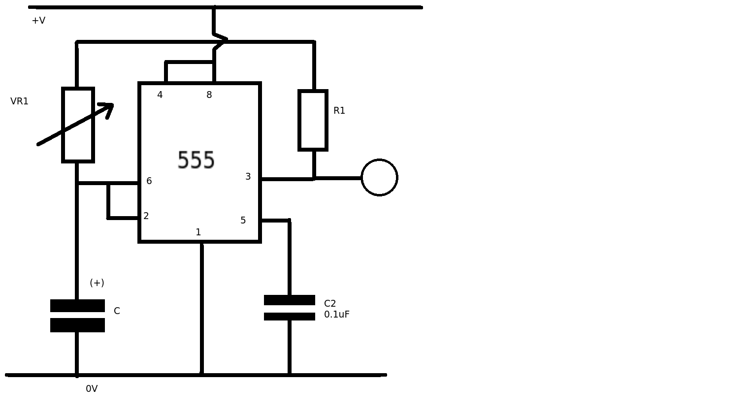 Variable 555 Circuit With Equal Low Amp High Frequency