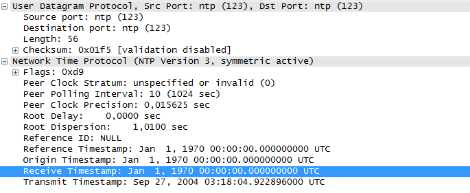 Udp NTP Request Packet Stack Overflow