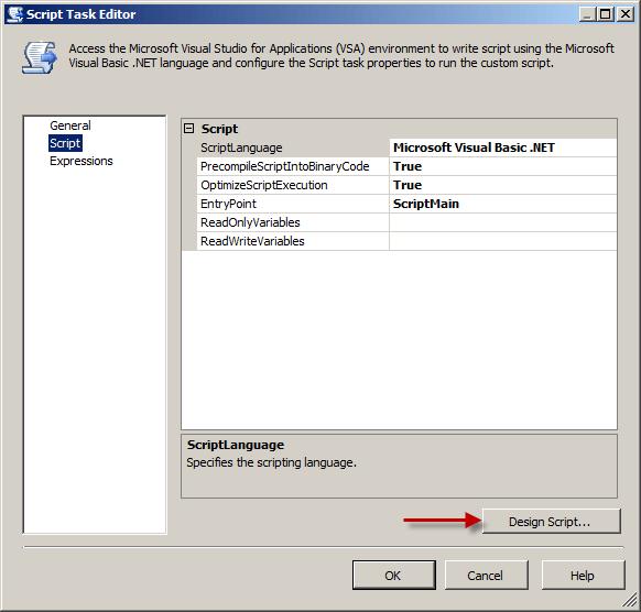 Script Task Script