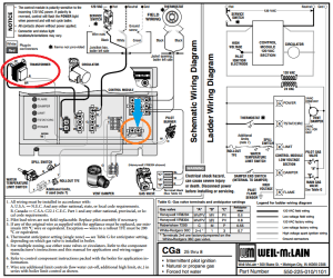 How to connect thermostat C wire to WeilMcLain CGa boiler
