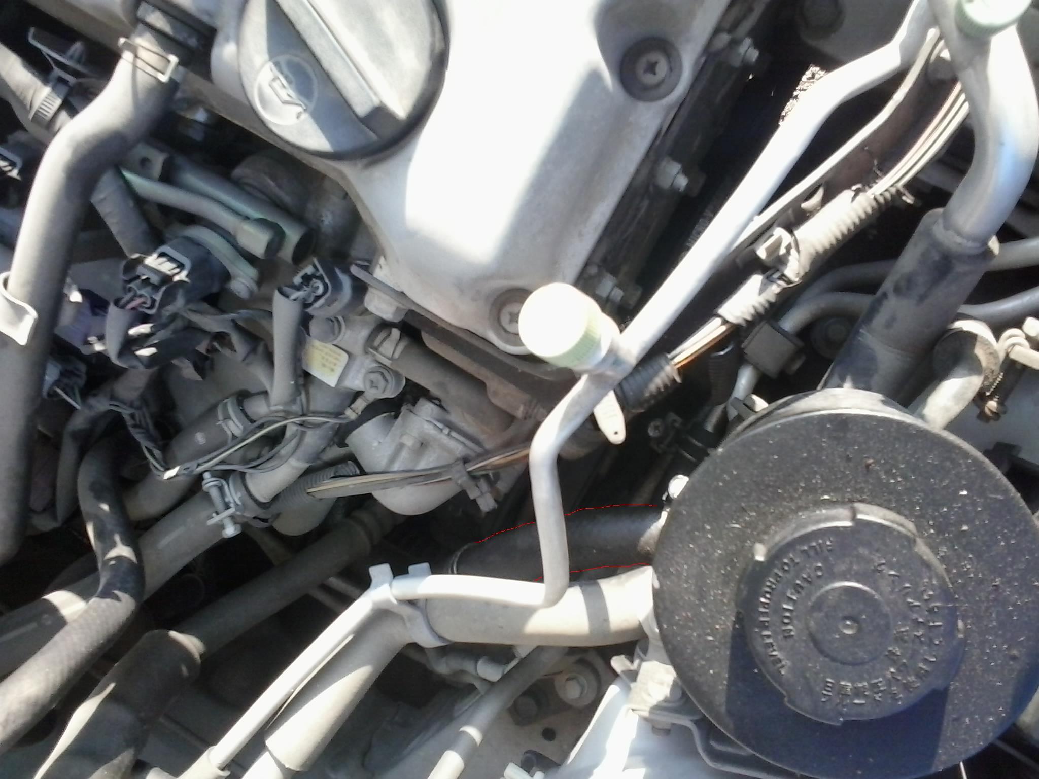 Fluid Leak Near The Power Steering Pump