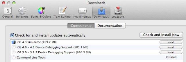 screenshot of downloads pane