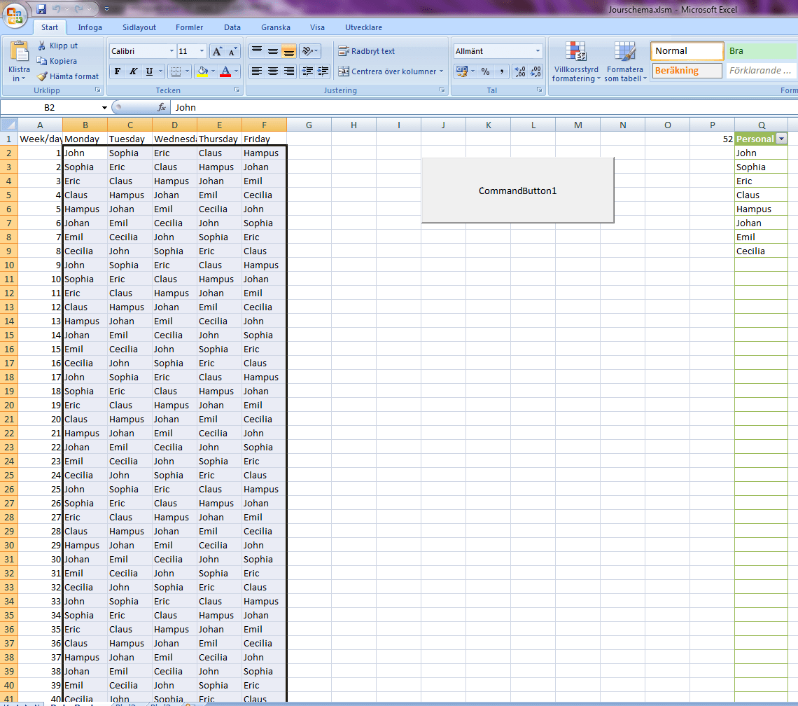 How To Replace Numbers In Cells With Names From A List In A Loop In Excel Vba
