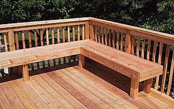 wood bench for decks