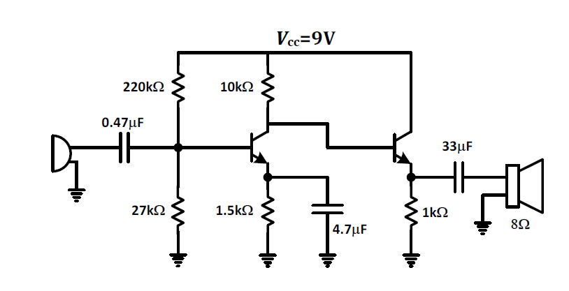 How To Solve Cascaded Transistors To Get Gain