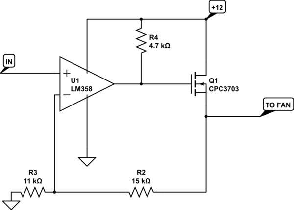Linear-control 12V DC Fan With 5V Low-current