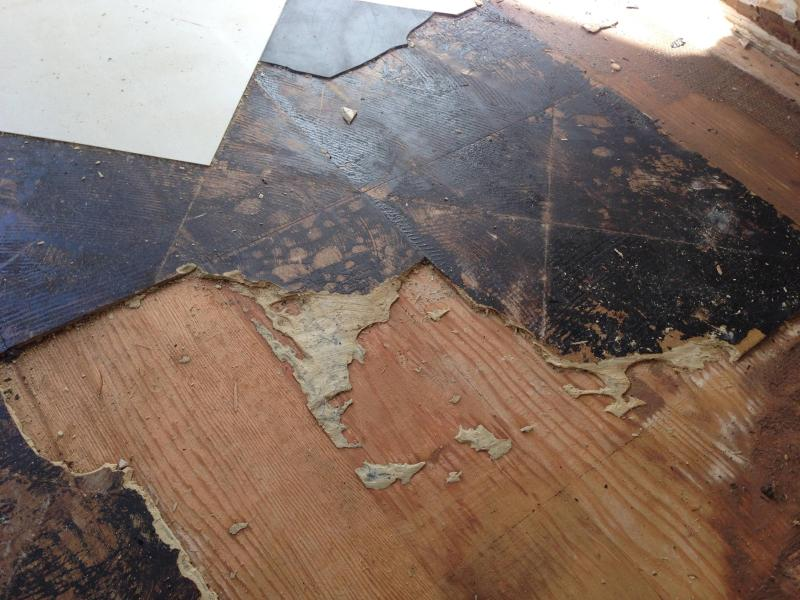 removal   Trouble removing vinyl tile and underlayment from wood     A little slice of hell