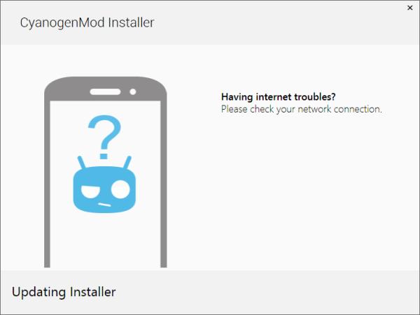 windows - CyanogenMod installer won't connect to internet ...
