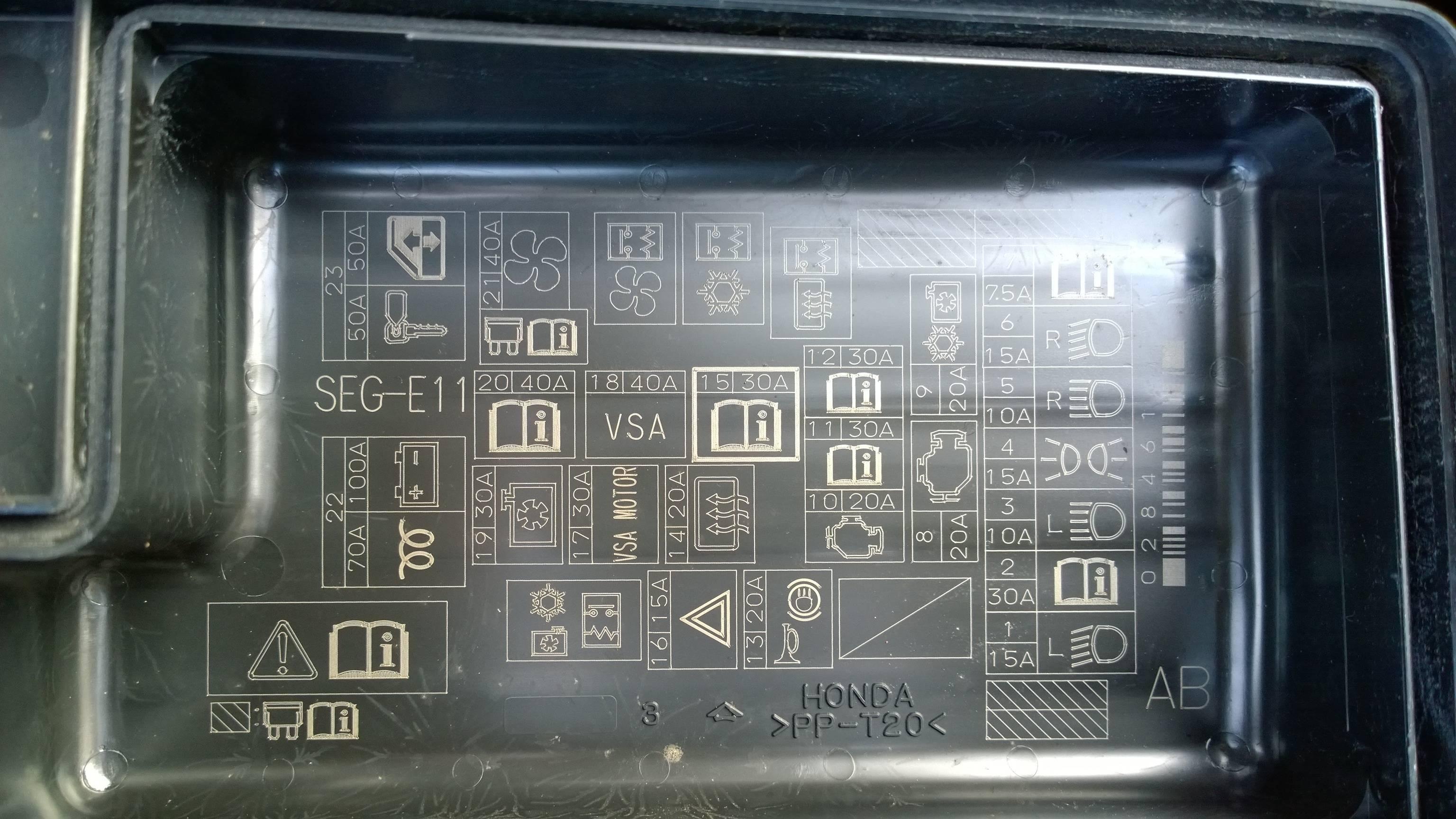 Honda Accord 2005 Headlight Relay Location