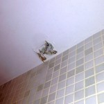 How Can I Patch The Ceiling And Rehang A Shower Curtain Rod