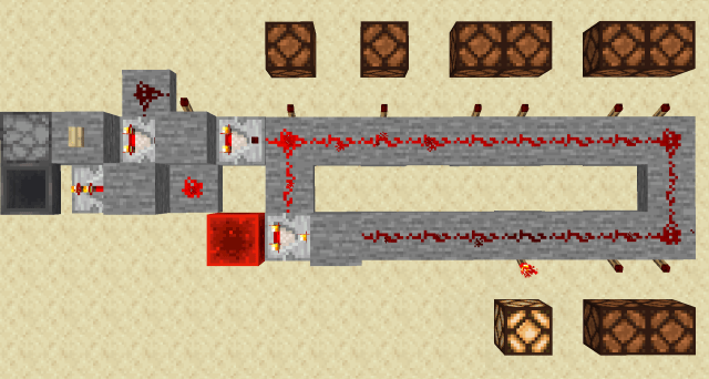 How to make redstone lamps light up one by one? - Arqade