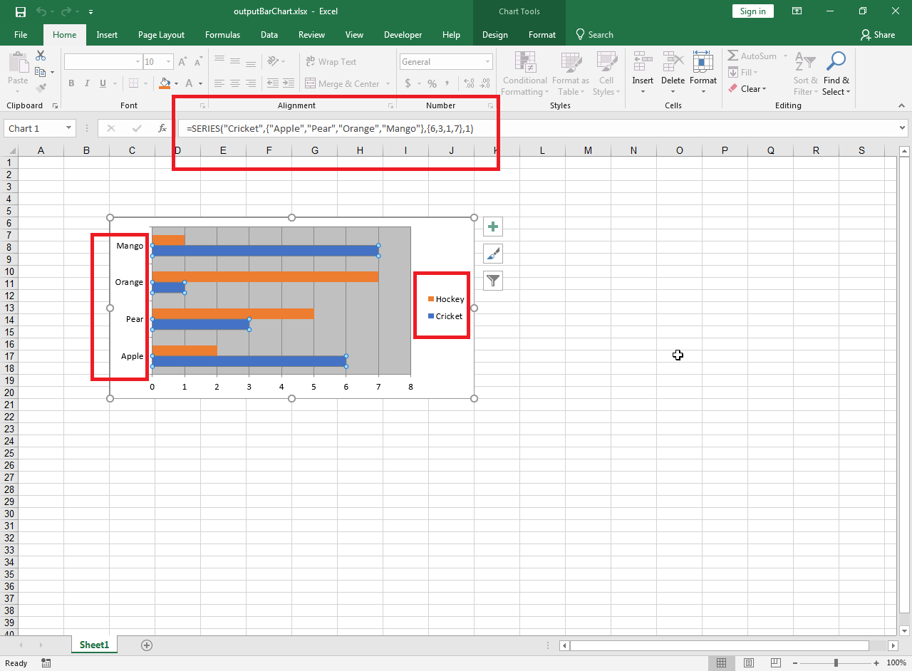 Create Excel Bar Chart From A Data Source In C Code Instead Of A Spreadsheet Range Using Aspose