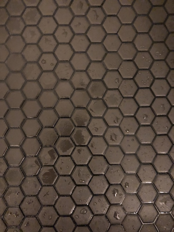 black tile and black grout