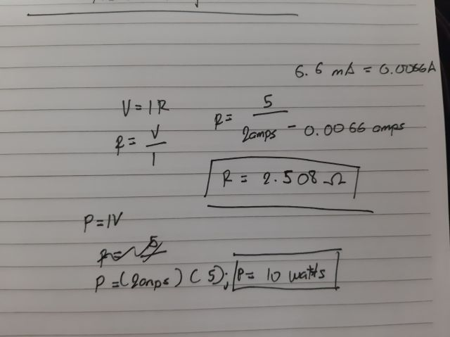 Is this the correct way to compute or the resistor for the ATMEGA