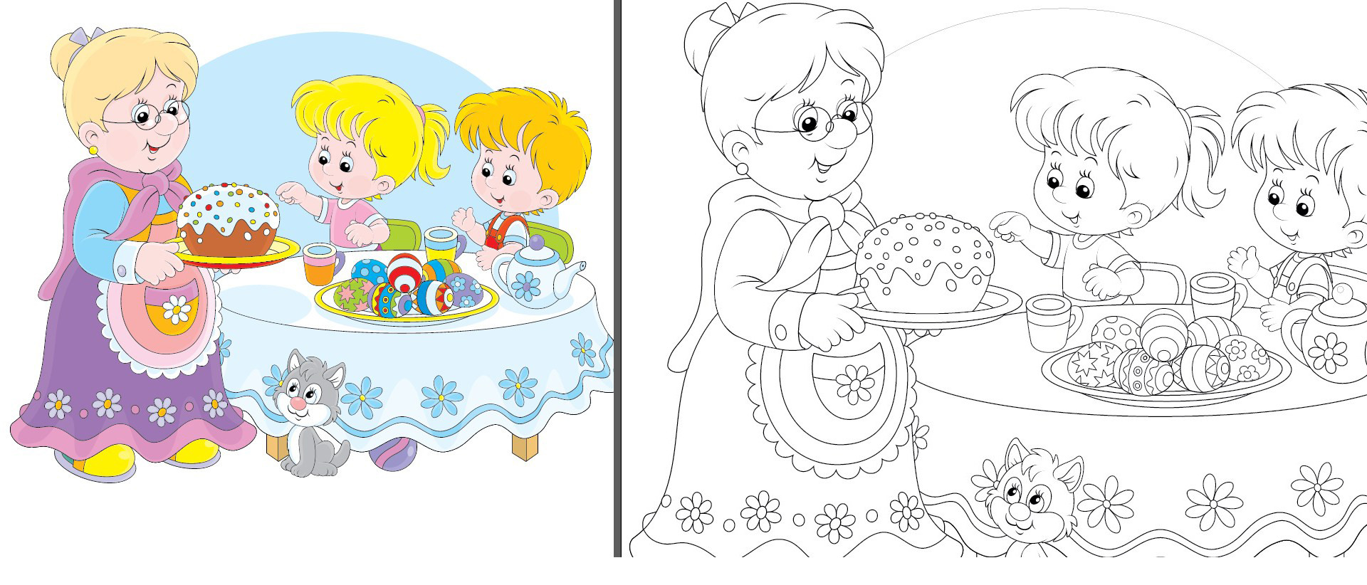 Converting A Colored Vector Eps To Coloring Page Single Line Art Graphic Design Stack Exchange