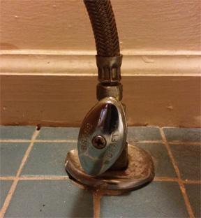 toilet shut off valve not shutting off