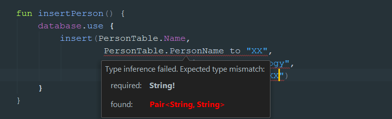 Type Interference Failed Expected Type Mismatch Required