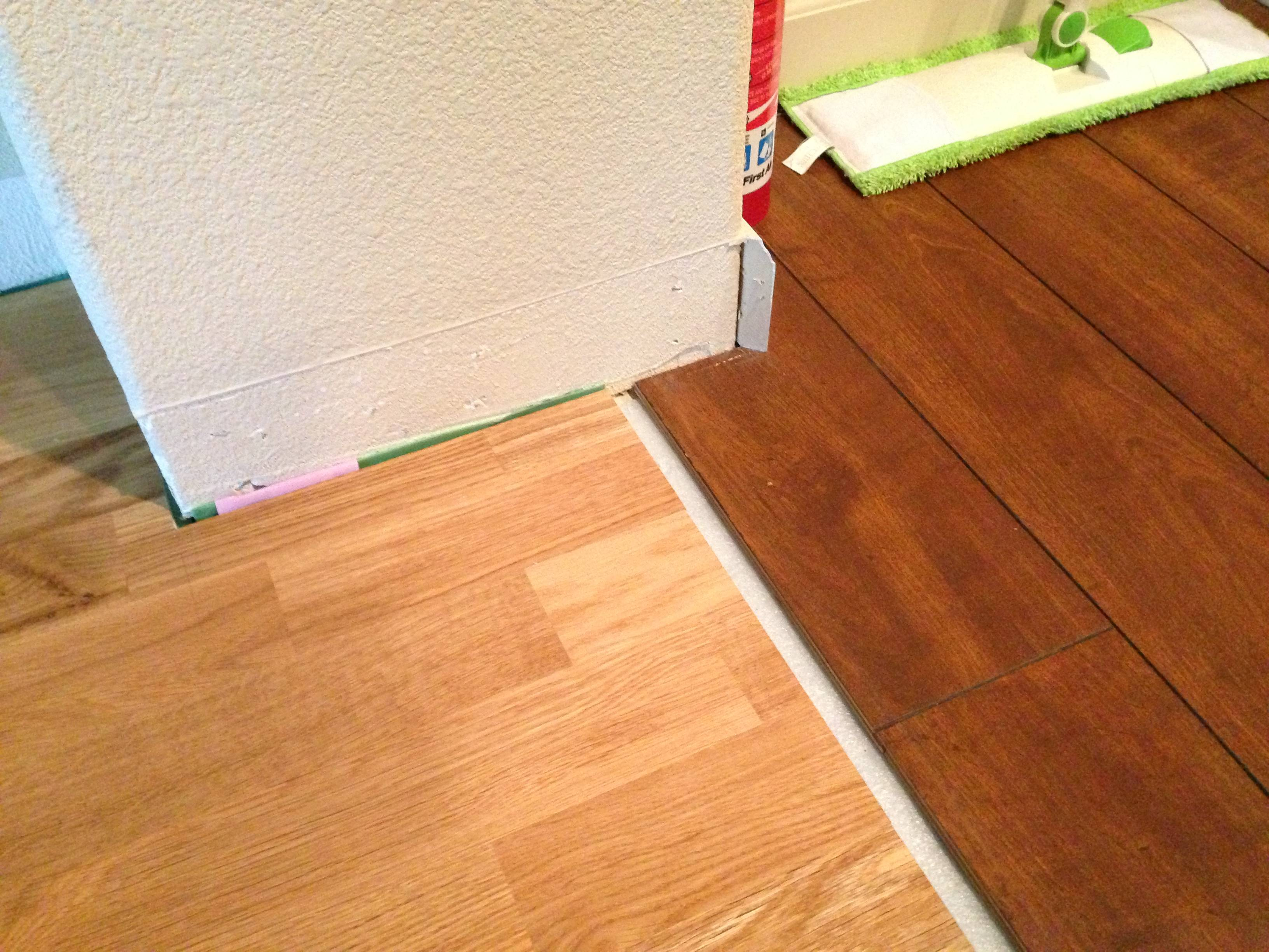 How To Install Baseboard At The Transition Between Floors