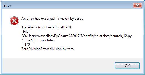 Standard tkinter error