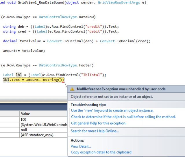 I Need Something Add A Cumulative Total Column To My Gridview