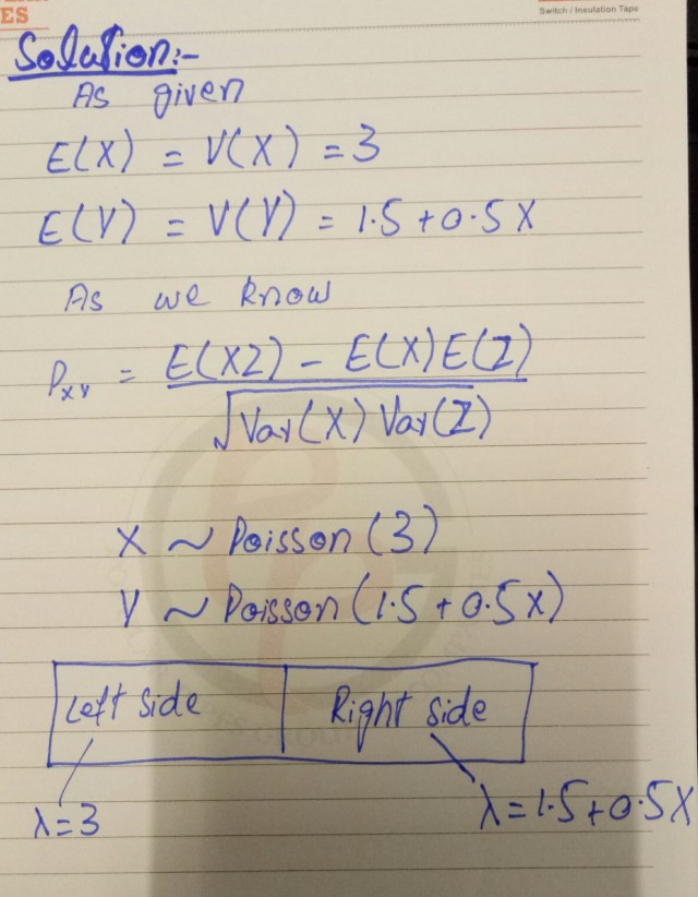 how to find correlation coefficient when X and Y follows Poisson