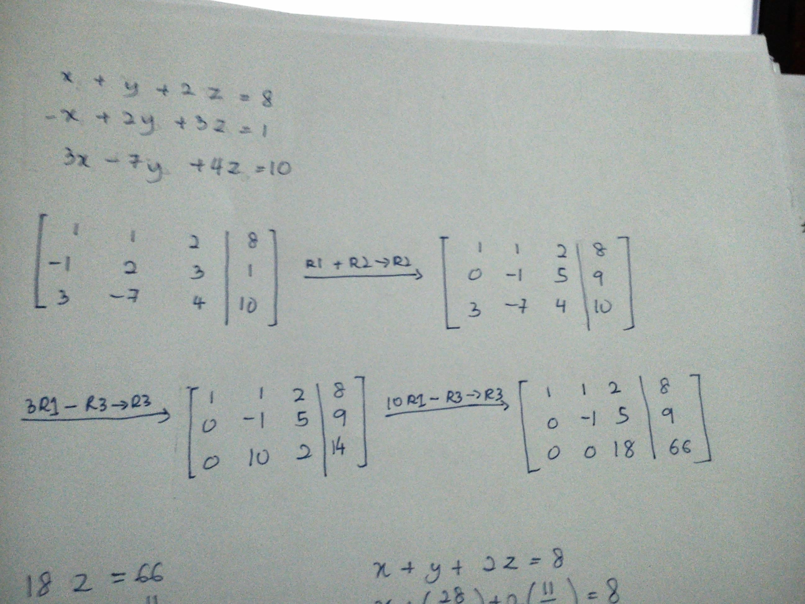 Gauss Elimination Method Solved Problems Gaussian
