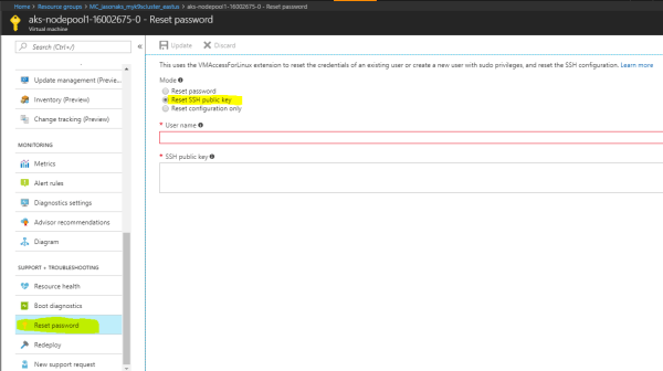 azure - AKS: Logging into worker nodes and get Permission ...