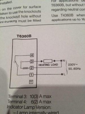 thermostat  Honeywell T6360 wiring  follow installation
