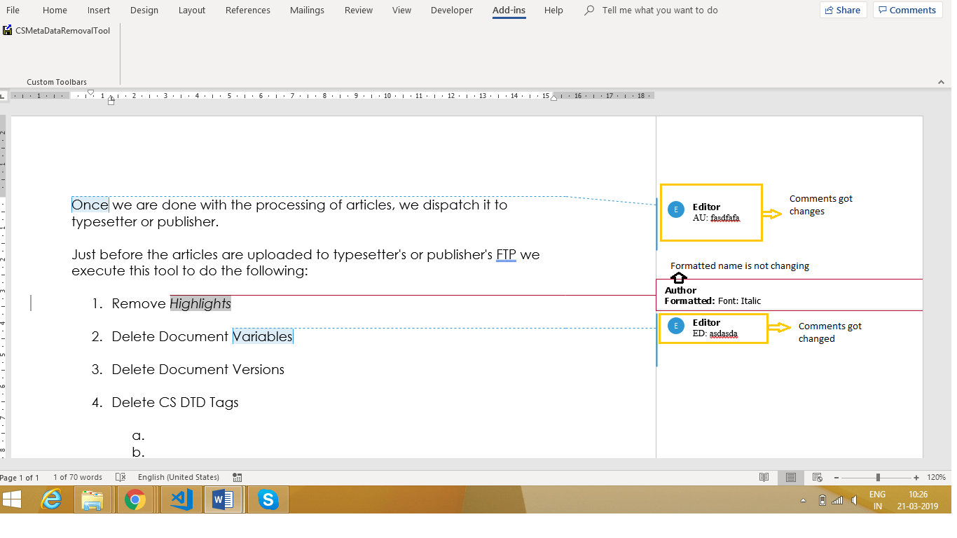 Rename The Formatted Author Name Using Vba In Word