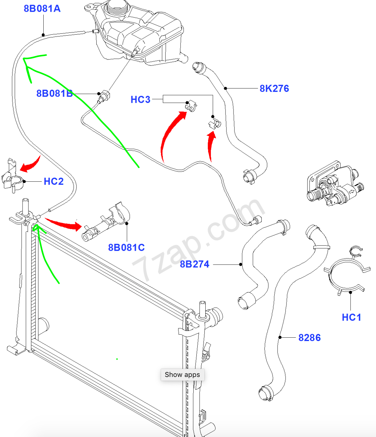 Diagram 2 0 Ford Engine Cooling