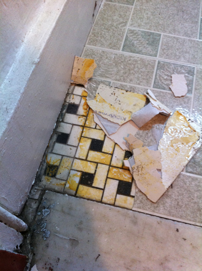 how to remove old vinyl tiles home