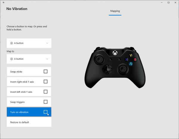 Disable vibration on Xbox One controller (on PC) - Arqade