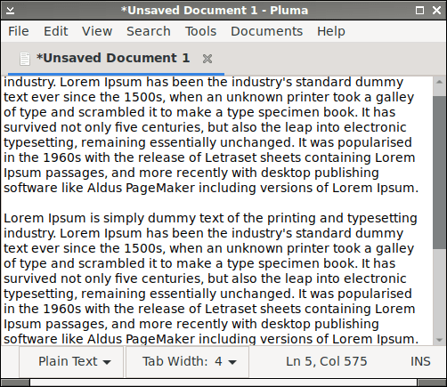 Text editor with traditional scrollbar