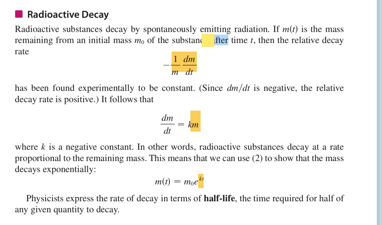 Exponential Equation For Radioactive Decay